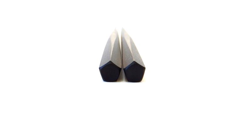 画像4: 縞黒檀 ずんぐり箸