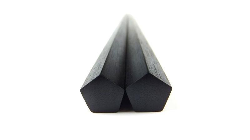 画像1: 極上五角縞黒檀